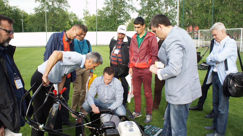 Изучение устройства техники для ухода за футбольными полями